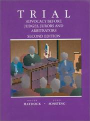 Cover of: Trial | Roger S. Haydock