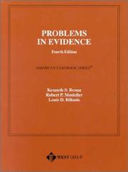 Cover of: Problems in evidence