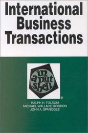 International business transactions in a nutshell by Ralph Haughwout Folsom
