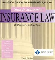 Cover of: Sum & Substance Insurance Law