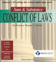 Cover of: Conflict of Laws (Sum & Substance) | Thomas C. Fischer