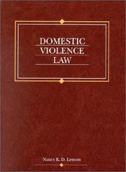Cover of: Domestic violence law |