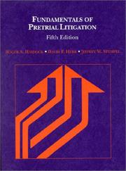 Fundamentals of pretrial litigation by Roger S. Haydock