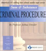Cover of: Criminal Procedure, 2001
