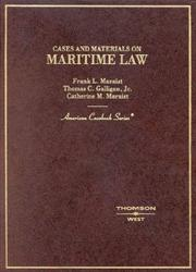 Cover of: Maritime law | Frank L. Maraist