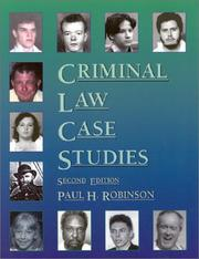 Cover of: Criminal Law Case Studies, 2nd Ed.