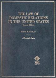 Cover of: The law of domestic relations in the United States