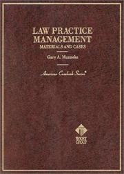 Cover of: Law practice management