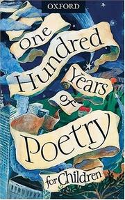Cover of: One hundred years of poetry for children