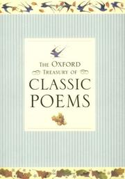 Cover of: The Oxford treasury of classic poems