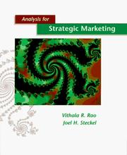 Cover of: Analysis for strategic marketing | Vithala R. Rao