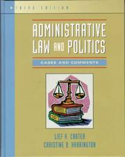 Cover of: Administrative law and politics