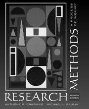 Cover of: Research methods: a process of inquiry