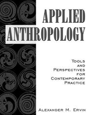 Cover of: Applied Anthropology | Alexander M. Ervin