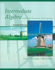 Cover of: Intermediate algebra with early functions and graphing
