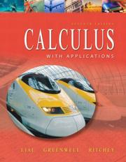 Cover of: Calculus with applications: brief version