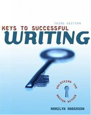 Cover of: Keys to successful writing | Anderson, Marilyn