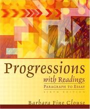 Cover of: Progressions with Readings (6th Edition) | Barbara Fine Clouse