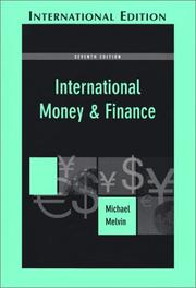 Cover of: International money and finance