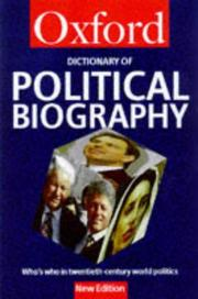 Cover of: A Dictionary of Political Biography | Dennis Kavanagh