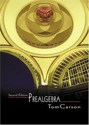 Cover of: Prealgebra (2nd Edition) (Carson Developmental Mathematics Series)