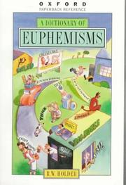 Cover of: A Dictionary of Euphemisms