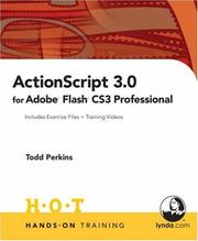 Cover of: ActionScript 3.0 for Adobe Flash CS3 Professional Hands-On Training | Todd Perkins