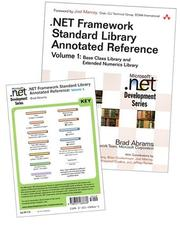 Cover of: Online Bundle of .NET Framework Standard Library Annotated Reference, Volume 1 and .NET Class Libraries Reference Poster