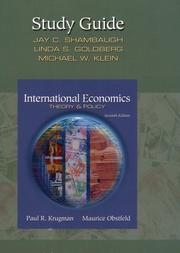 Cover of: International Economics, Theory and Policy (Study Guide) | Paul R. Krugman
