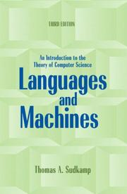 Cover of: Languages and Machines | Thomas A. Sudkamp