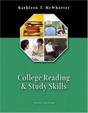 Cover of: College Reading and Study Skills (10th Edition) by Kathleen T. McWhorter