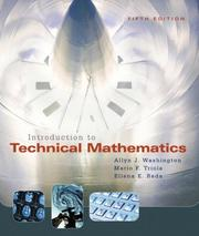 Cover of: Introduction to Technical Mathematics