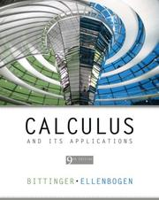 Cover of: Calculus and Its Applications