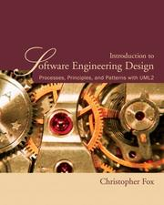 Cover of: Introduction to Software Engineering Design