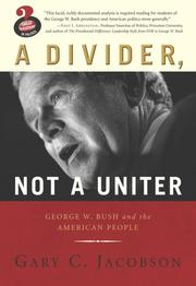 Cover of: A Divider, Not a Uniter