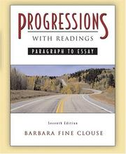 Cover of: Progressions, with Readings: paragraph to essay