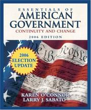 Cover of: Essentials of American government