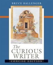 Cover of: The Curious Writer