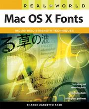 Cover of: Real World Mac OS X Fonts (Real World)