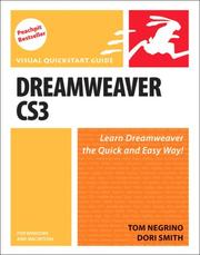 Dreamweaver CS3 for Windows and Macintosh (Visual QuickStart Guide) by Tom Negrino, Dori Smith