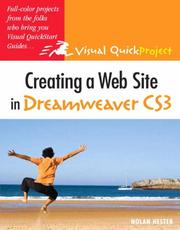 Creating a web site in Dreamweaver CS3 by Nolan Hester