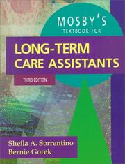 Mosby's textbook for long-term care assistants by Sheila A. Sorrentino