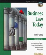 Cover of: Business law today | Roger LeRoy Miller