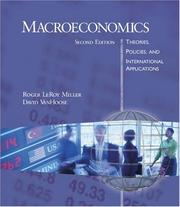 Cover of: Macroeconomics | Roger LeRoy Miller, David D. VanHoose