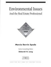 Cover of: Environmental Issues for the Real Estate Professional