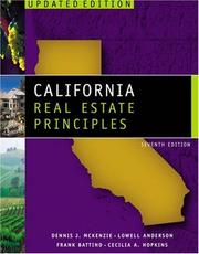 Cover of: California real estate principles