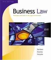 Cover of: Business Law | Daniel Davidson