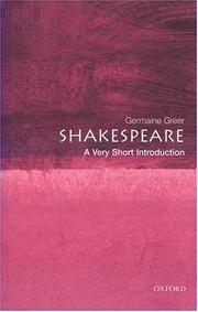 Cover of: Shakespeare: a very short introduction