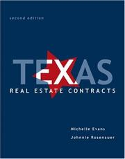 Cover of: Texas real estate contracts | Michelle L. Evans