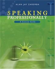 Cover of: Speaking Professionally | Alan Zaremba